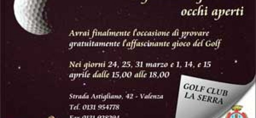 Golf: open days al Club La Serra di Valenza