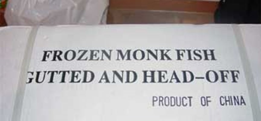 FDA Warning on Mislabeled Monkfish