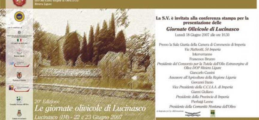 Le Giornate Olivicole di Lucinasco