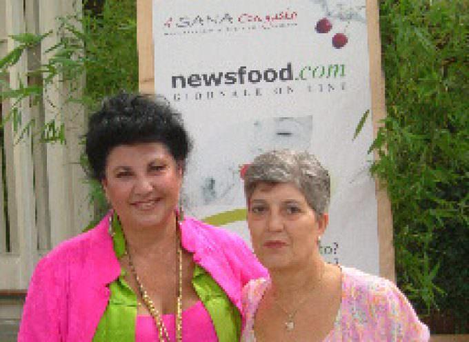 Sana: Marisa Laurito visita lo stand di NEWSFOOD.com