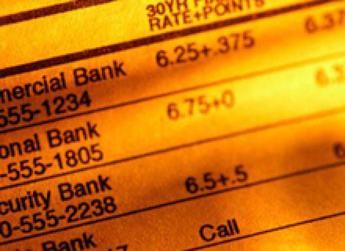 Tassi: sale la corsa dell'Euribor e scende il potere di acquisto delle famiglie con mutui a tasso variabile