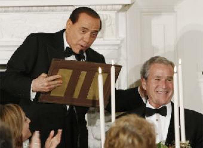 """Berlusconi: """"La historia demostrará que Bush ha sido un grandísimo presidente"""""""