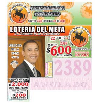 Obama, el protagonista de una lotería colombiana