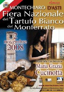 La Fiera del Tartufo Bianco di Montechiaro d'Asti premia Maria Grazia Cucinotta