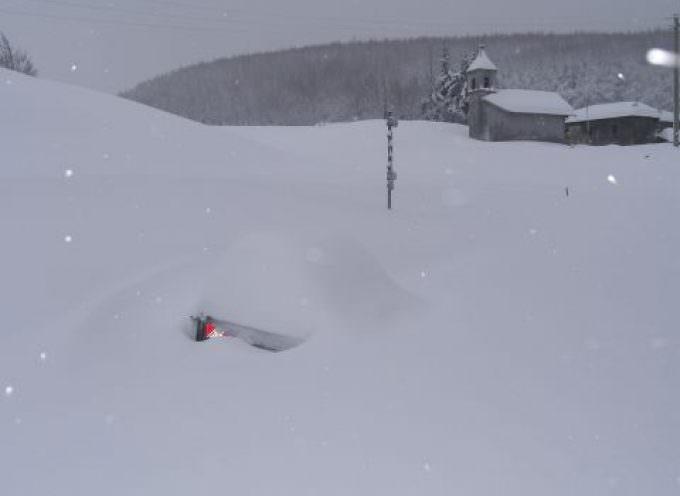 Straordinari accumuli nevosi sull'Appennino Tosco-Emiliano