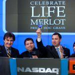 Vino, Marco Fantinel ha suonato la campana di apertura del NASDAQ a New York