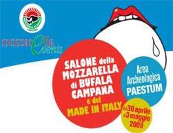 Enogastronomia: domani a Paestum inaugurazione del IV Salone della Mozzarella di Bufala campana dop