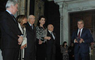 """Il Presidente Napolitano consegna il premio """"Leonardo Qualità Italia"""" al Pastificio Rummo"""