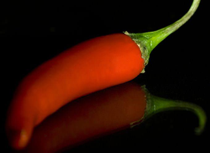 Il peperoncino stimola i tumori della pelle
