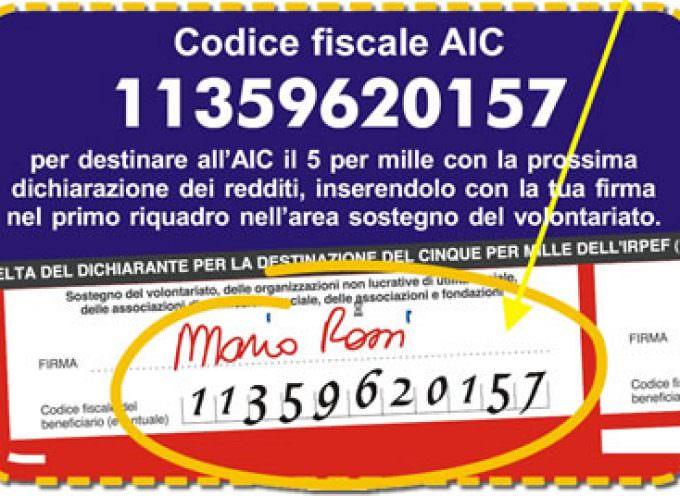 5 per mille: perchè scegliere AIC, istruzioni su come fare