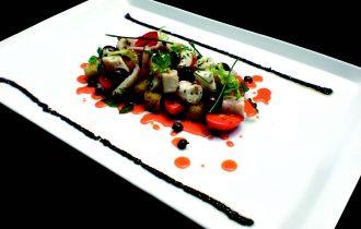 Le ricette dei designer: Polpo verace con panzanella alla romana