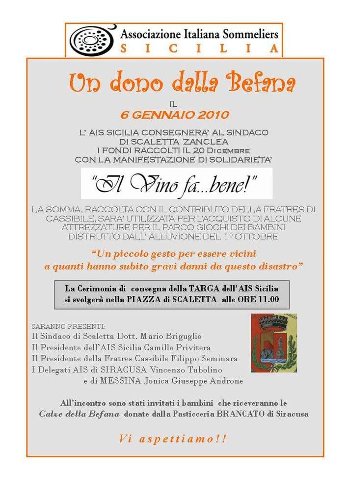 """Sicilia: AIS Sicilia e """"Il Vino fa … Bene"""""""
