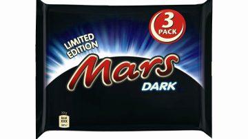 I momenti di godimento non finiscono mai… con la limited edition Mars® Dark!