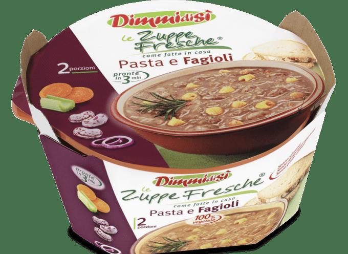 Le zuppe fresche DimmiDiSì – Pasta e fagioli è la n° 1 in Europa