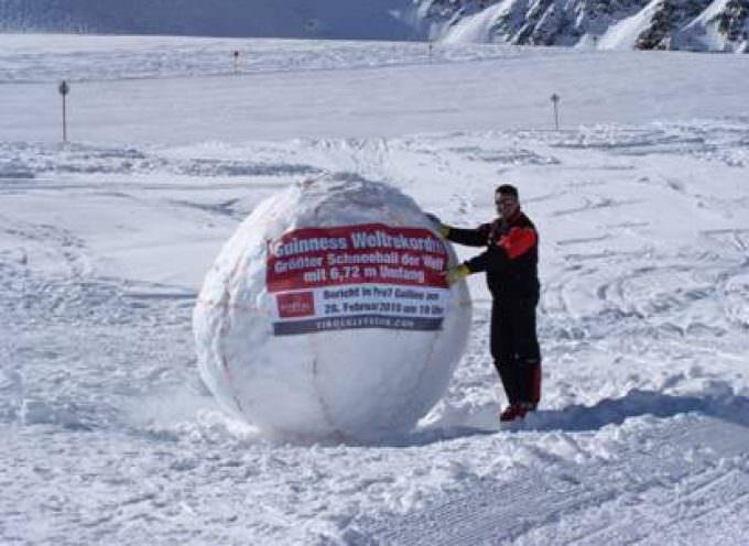 Palla di neve da Guinness a Pitztal, nel Tirolo austriaco