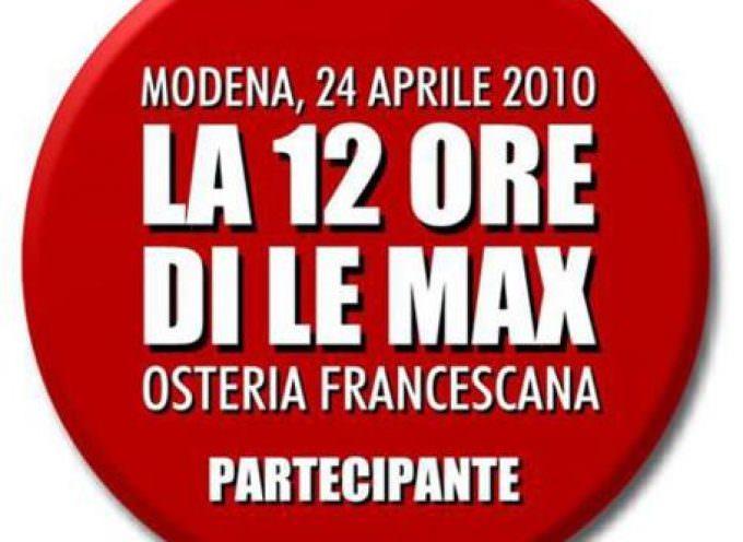 Sabato 24 aprile a Modena una storica 12 Ore di Le Max