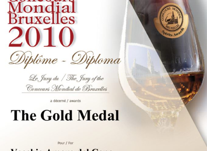 Concours Mondial de Bruxelles: l'Amaro del Capo si veste d'oro