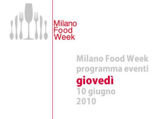 Milano Food Week: eventi in programma giovedì 10 giugno
