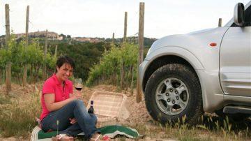 Fuori strada del vino e pic nic con Brunello