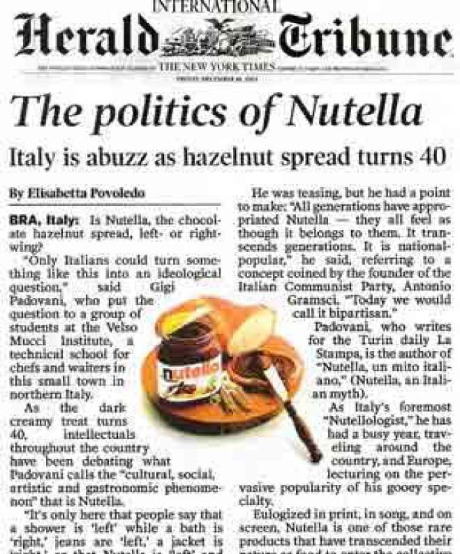 Il caso Nutella e i Tramaglini del 2000
