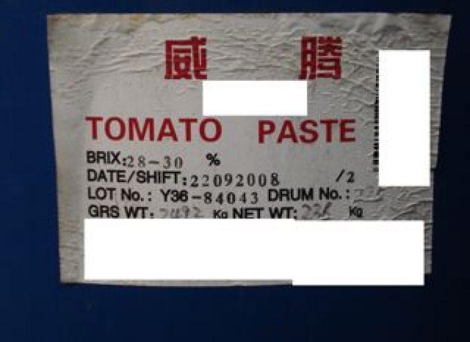 """Frode in commercio di pomodoro cinese spacciato per """"Pummarola italiana"""""""