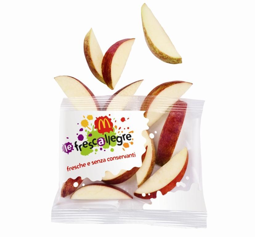Frutta gratis assieme agli Happy Meals McDonald's