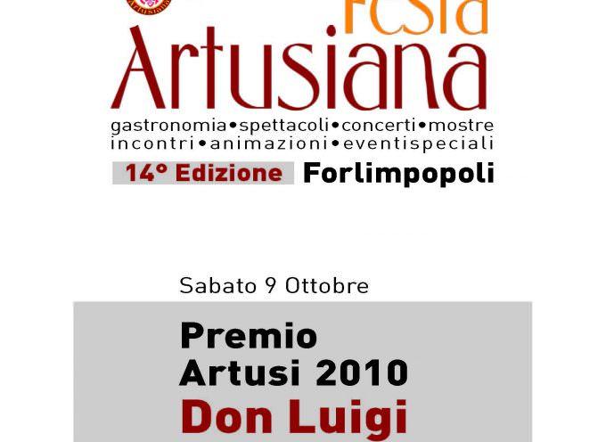 Don Luigi Ciotti, il fondatore di Libera, ritira il Premio Artusi 2010
