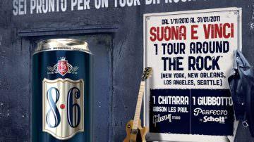 8.6, birra speciale di Bavaria, diventa una chitarra virtuale!