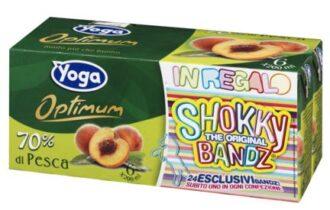 I succhi di frutta Yoga Optimum regalano i braccialetti Shokky Bandz