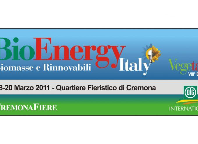 A Cremona, dal 18 al 20 marzo, il BioEnergy Italy