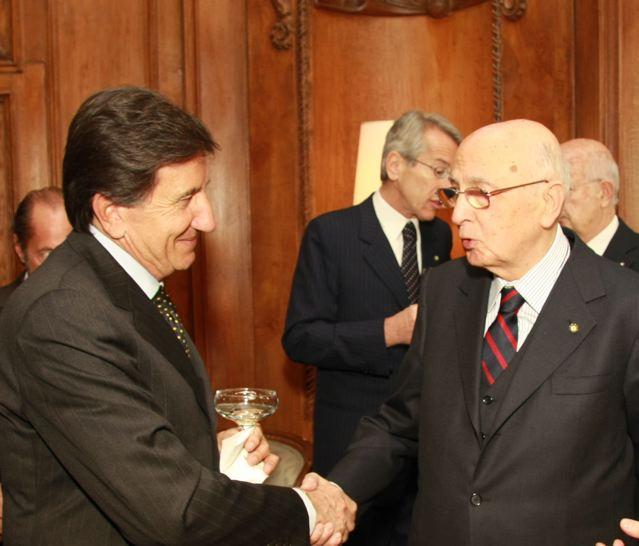 New YorK, Pranzo dei 150 anni dell'Unità: Giorgio Napolitano brinda con l'Asti docg