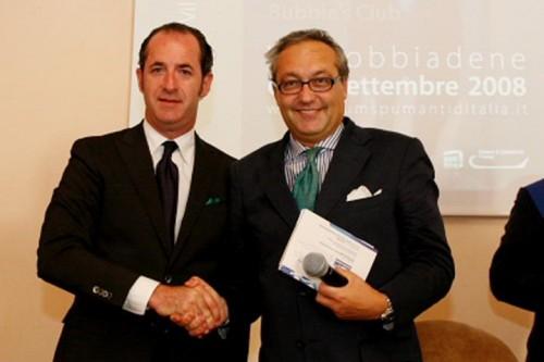 Foto di archivio: ex Ministro Luca Zaia e Giampietro Comolli