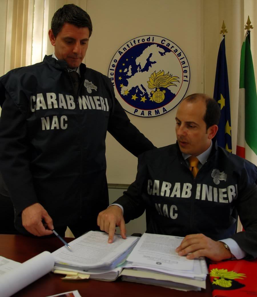 NAC di Parma: Sequestro di 32.000 kg di prodotti agroalimentari falsi Dop/Igp