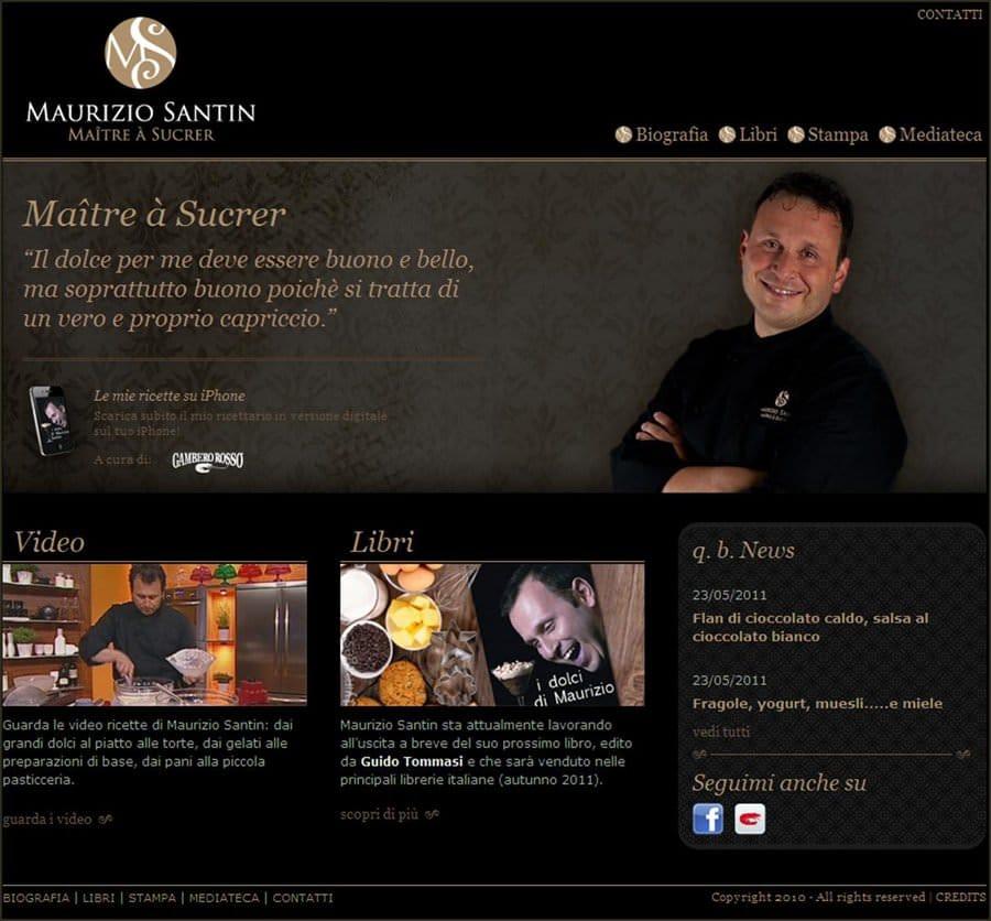 """Nuovo sito ufficiale per Maurizio Santin, il """"Maitre à Sucrer"""""""
