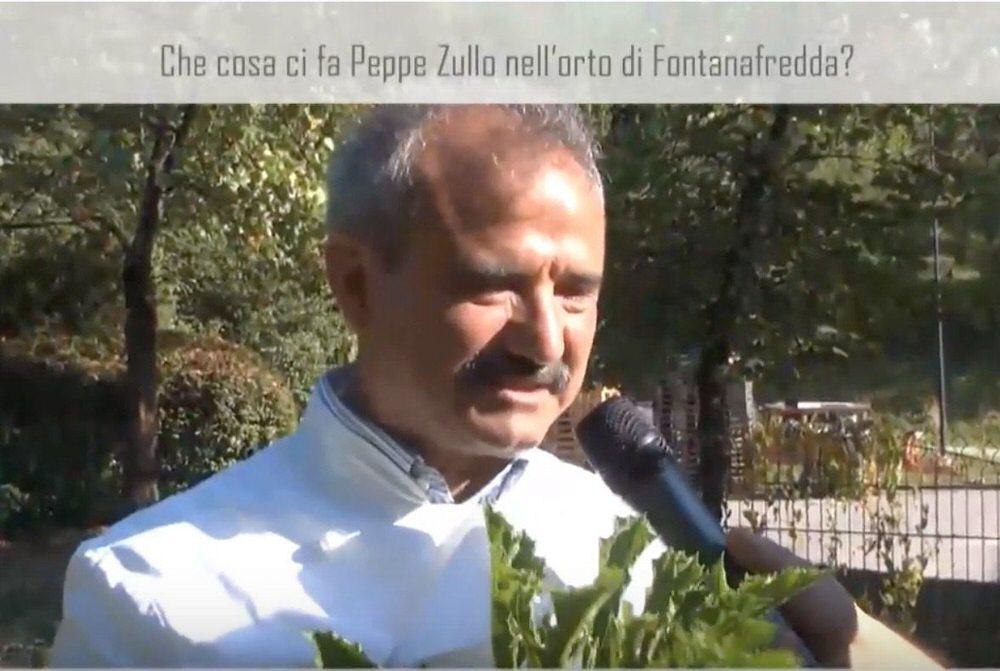 Peppe Zullo nell'orto di Oscar Farinetti a Fontanafredda (video)