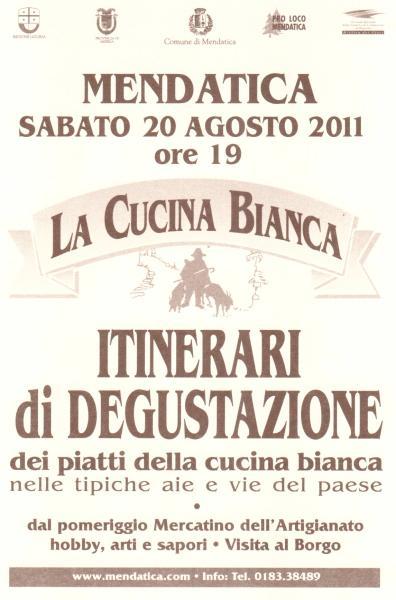 Dal mare alle Alpi Liguri di Mendatica alla Festa della Cucina Bianca, sabato 20 agosto 2011