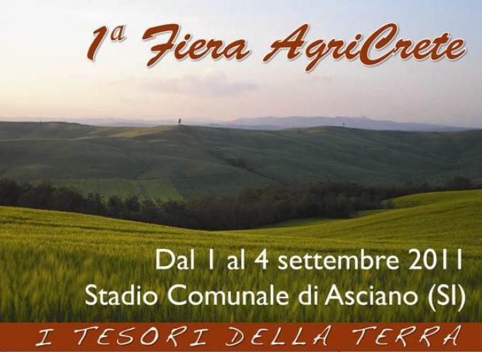 Dall'1 al 4 settembre a Asciano (Si): Agricrete, la prima fiera dell'agricoltura
