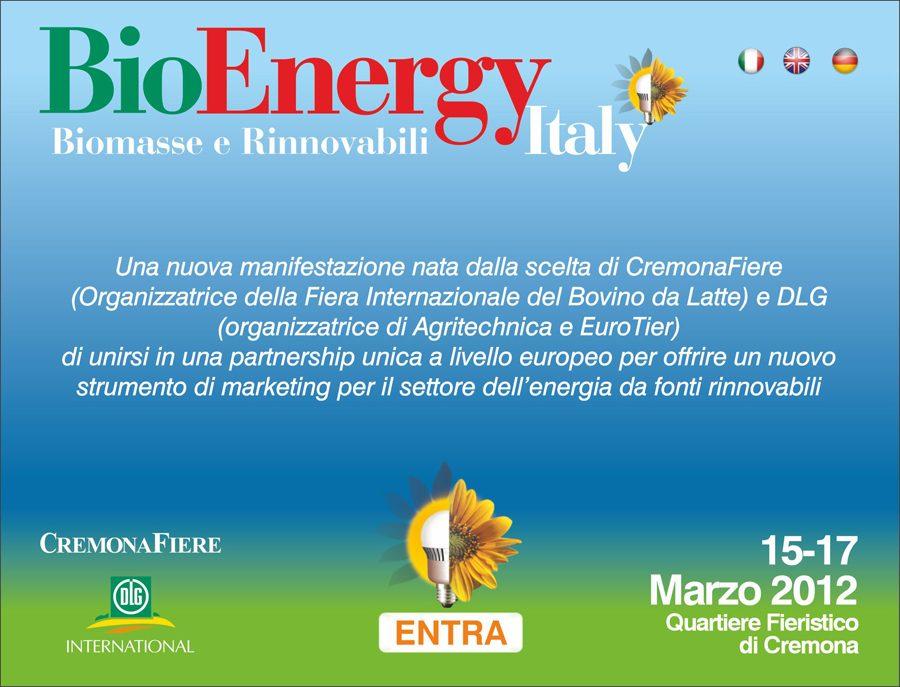 A Cremona dal 15 al 17 marzo tutto su BioEnergy Italy