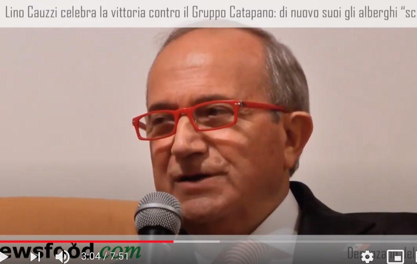 Lino Cauzzi celebra la vittoria contro il Gruppo Catapano: di nuovo suoi gli alberghi scippati (Video)