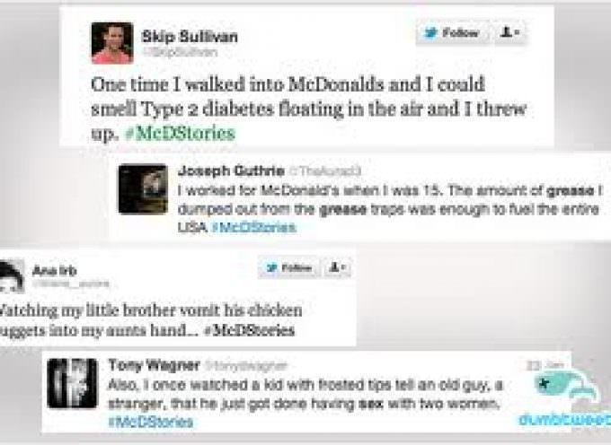 """McDStories"": McDonald's scivola su Twitter"