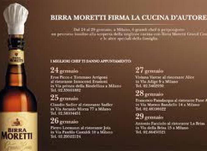 Birra Moretti e 7 ristoranti. Matrimonio di gusto a Milano