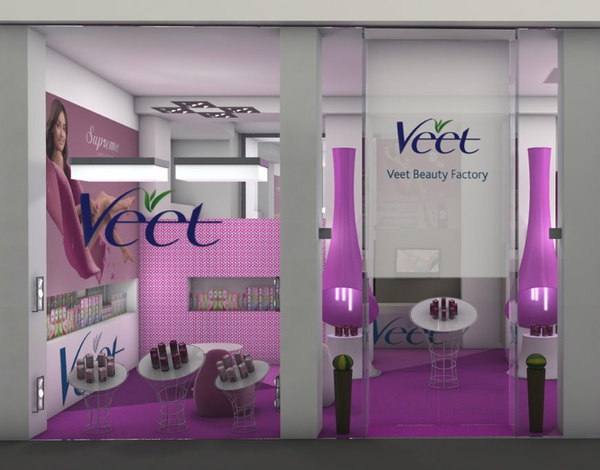 Veet Beauty Factory: Nasce il primo Veet temporary store in a Milano