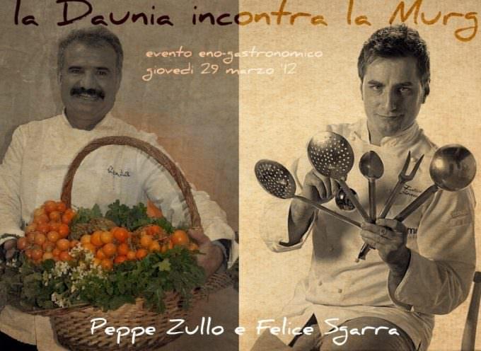 Cena a quattro mani: Felice Sgrarra ospita Peppe Zullo