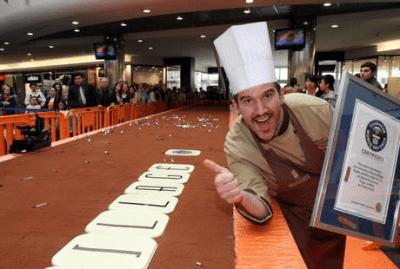 Cioccolato, a Milano una barretta da Guiness: 18 metri