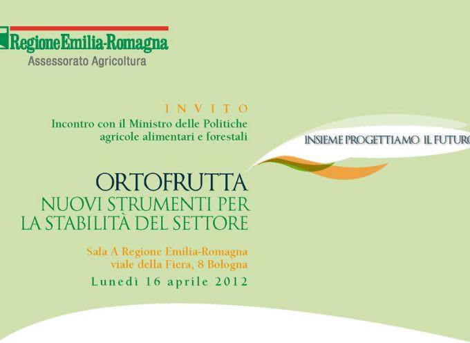 """Bologna: Convegno """"Ortofrutta, nuovi strumenti per la stabilità del settore"""""""