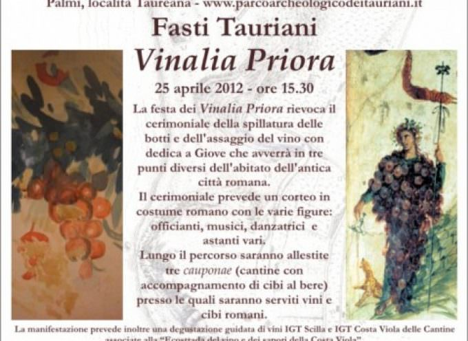 25 Aprile. I Vinalia romani rivivono al Parco Archeologico dei Tauriani