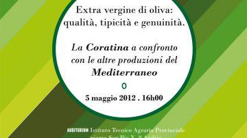 Incontro sulle qualità della cultivar Coratina rispetto alle altre produzioni del Mediterraneo