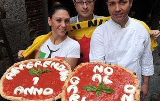 Napoli, una pizza per festeggiare il no al nucleare