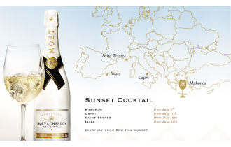 Moët Sunset Cocktail celebra il tramonto ispirandosi alle più famose summer glamorous location