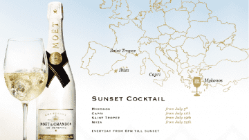 Moët Sunset Cocktail celebra il tramonto ispirandosi alle più famose summer glamorous location